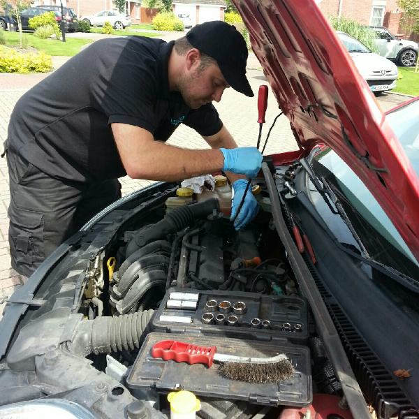 Me working on a Ford Fiesta